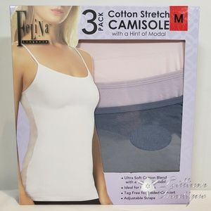 Felina Cotton Stretch Camisole (3 Pack) NWT!